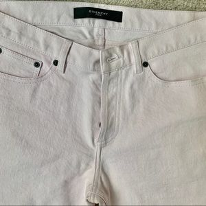 Mens Givenchy Pink Jeans Straight Leg